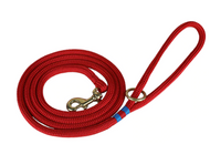 Marine Dock Line Dog Leash in Red with Blue
