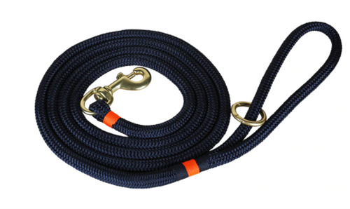 marine dock line in navy with orange trim