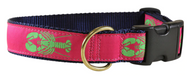 Lobster on Raspberry Pink Dog Collar