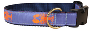 Lobster on Periwinkle Dog Collar