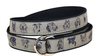 Dog Faces Ribbon Belt