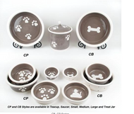 Petware Pottery Dog Bowls Series CB CP