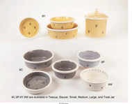 Petware Pottery Dog Bowls 9 Series