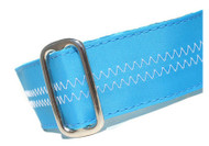 Sailcloth Dog Collar in Salty Dog Turquoise