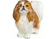 Japanese Chin Glass Christmas Ornament (Red & White)