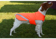 Orange Dog Coat with Mesh Lining