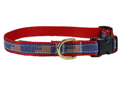 History of US Flags Dog Collar 5/8""