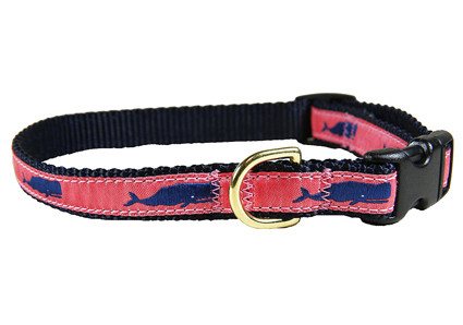 """Whale Dog Collar Coral 5/8"""""""