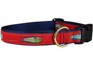 Fish Dog Collar on Red