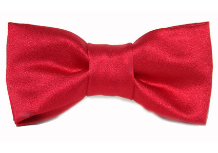 Red Satin Bow Tie For Dogs