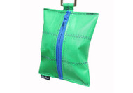 Dog Waste Bag Dispenser in Sailcloth Salty Dog Green and Blue