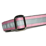 Reflective Dog Collar in Pink
