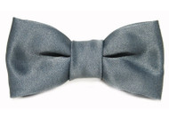 Grey Satin Bow Tie For Dogs