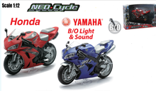 NEWRAY 1:12 Yamaha YZF-R1 DIECAST MOTORCYCLE Lights and Sound