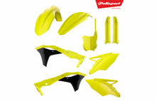 Kawasaki Plastic Kit KXF 250 2017 - 2018 Neon / Fluo with fork guards 90744