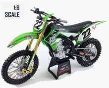 Chad Reed #22 Kawasaki KXF450 1:6 scale two two motorsports die-cast Toy model