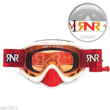 RIP N ROLL HYBRID FULLY LOADED GOGGLES WHITE / RED