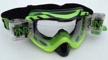 RIP N ROLL HYBRID Fully Loaded Goggles DAY GLOW GREEN