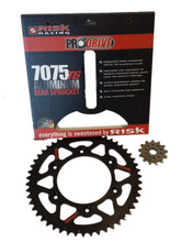Risk Racing Rear Sprocket KAWASAKI KX - 00 - 08-KXF250 04-14 - 450-06-14 / 49 T