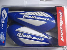 Hand Guards MOTOCROSS ENDURO Yamaha YZF YZ Blue and White Free Flow PRO Polisport
