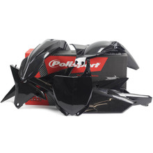 YAMAHA YZ Motocross MX Plastic Kit YZ 250 F/ 450 F 2014-17 Black