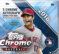 2018 Topps Chrome Baseball Jumbo HTA Box