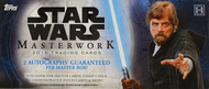 2018 Topps Star Wars Masterwork Hobby 8 Box Case