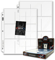BCW Pro 9 Pocket Pages - 100ct Box