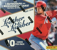2019 Panini Leather and Lumber Baseball Hobby Mini Box
