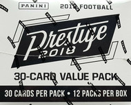 2018 Panini Prestige Football 12-Pack Value Jumbo Box