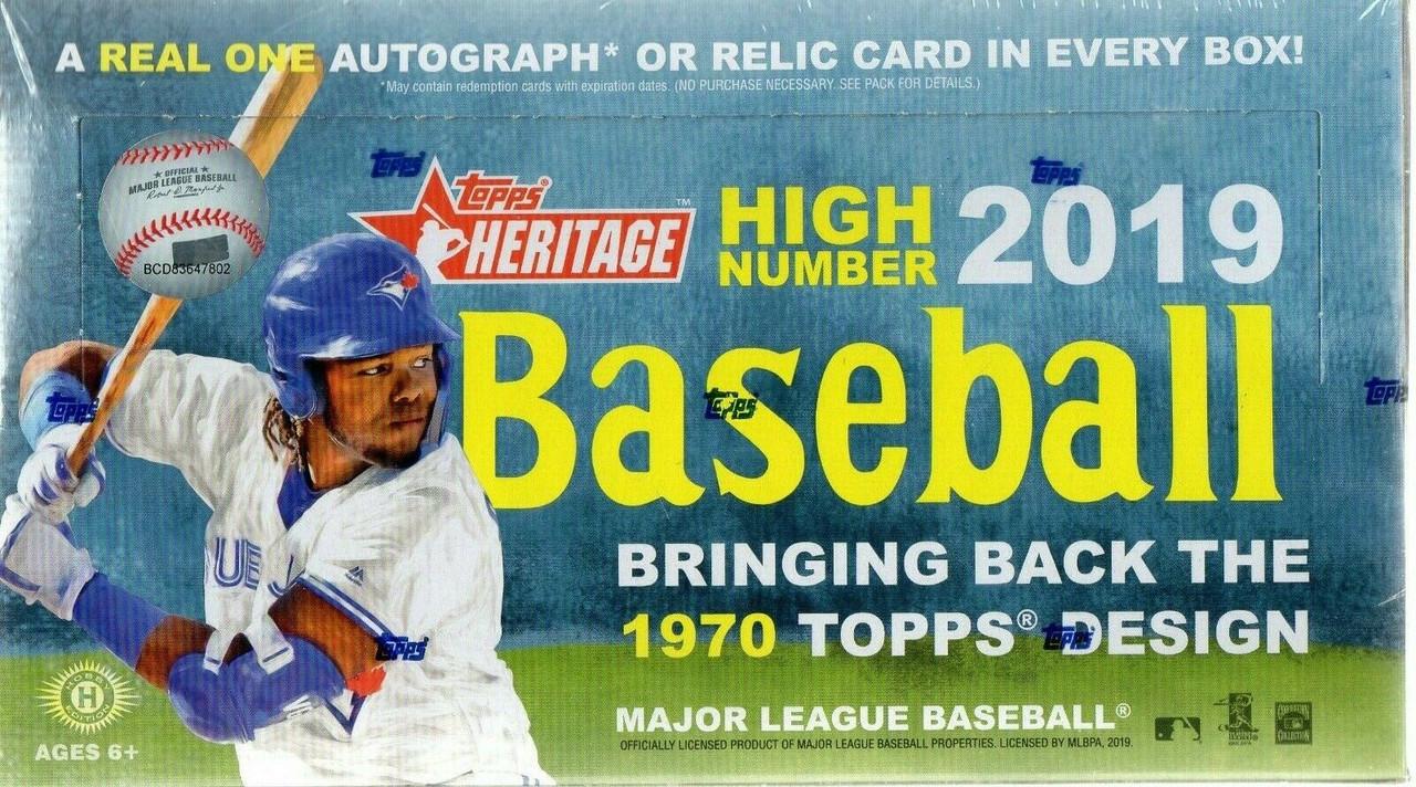 2019 Topps Heritage High Number Baseball Hobby Box