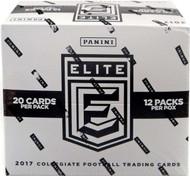 2017 Panini Elite Draft Picks Collegiate Football Fat Pack Cello Box