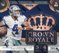 2016 Panini Crown Royale Football Retail Box