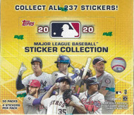 2020 Topps MLB Sticker Collection Baseball Box