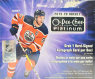 2019/20 Upper Deck O-Pee-Chee Platinum Hockey Hobby Box