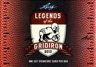 2013 Leaf Cut Signature Legends Of The Gridiron Ed Box