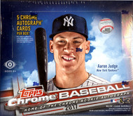 2017 Topps Chrome Baseball 8 Box Jumbo HTA Case