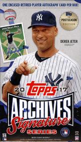 2017 Topps Archives Signature Postseason Edition Baseball Box