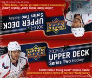 2015/16 Upper Deck Series 2 Hockey Retail Box