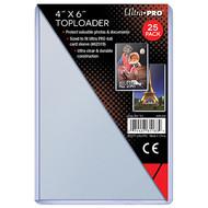 "Ultra Pro 4"" X 6"" Toploader 25ct"