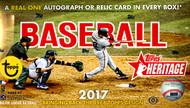 2017 Topps Heritage Baseball Hobby 12 Box Case