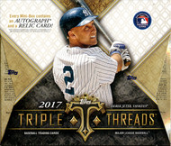 2017 Topps Triple Threads Baseball Hobby 9 Box Case