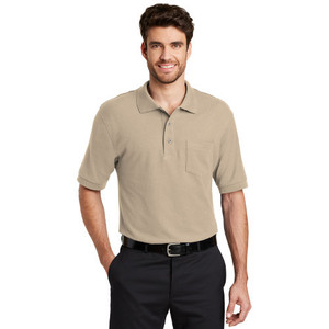 Port Authority® Silk Touch™ Polo with Pocket  (Tall Sizes Available)