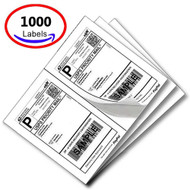 MFLABEL® 1000 Half Sheet Laser/Ink Jet USPS UPS Fedex Shipping Labels (Compare to 5126)