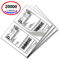 MFLABEL® 20000 Half Sheet Laser/Ink Jet USPS UPS Fedex Shipping Labels (Compare to 5126)