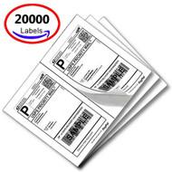 MFLABEL® 20000 Half Sheet Laser/Ink Jet USPS UPS Fedex Shipping Labels (Compare to 5126)