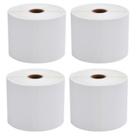 MFLABEL®  4 Rolls of 450 4x6 Direct Thermal Blank Shipping Labels for Zebra 2844 Zp-450 Zp-500 Zp-505