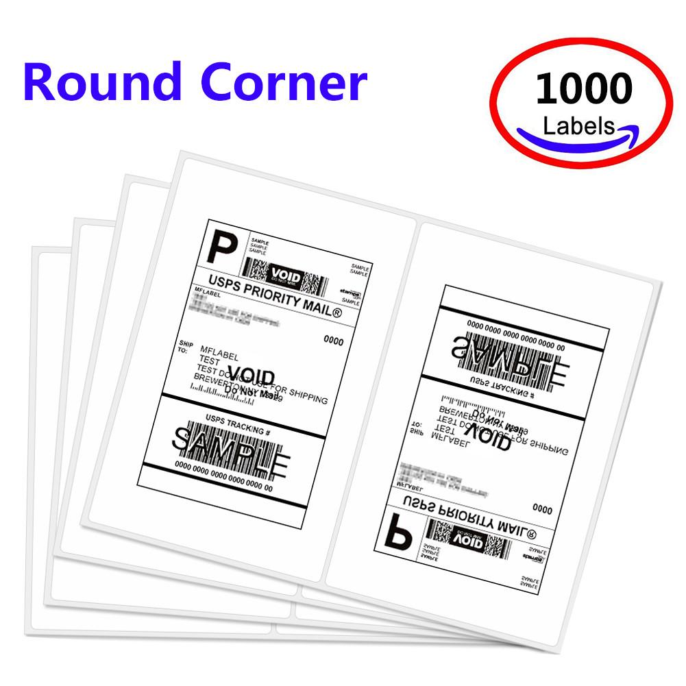 Mflabel 1000 Round Rorner Half Sheet Laser Shipping Labels Compare