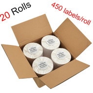 MFLABEL® 20 Rolls of 450 4x6 Direct Thermal Blank Shipping Labels