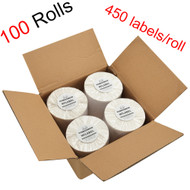 MFLABEL® 100 Rolls of 450 4x6 Direct Thermal Blank Shipping Labels